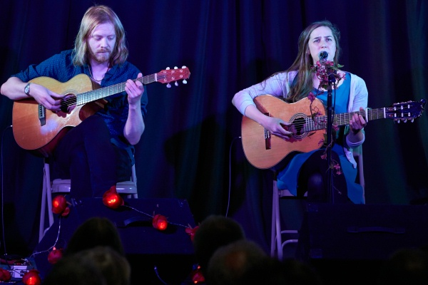Josienne Clarke and Ben Walker Black Duck Folk Sutton Benger 27-06-2015